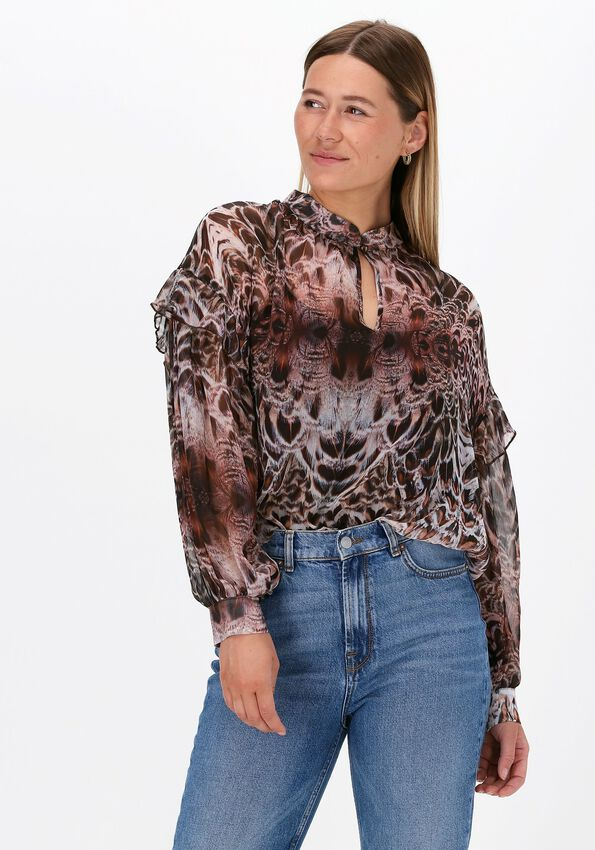 Witte SUMMUM Blouse TOP FEATHERS  - larger