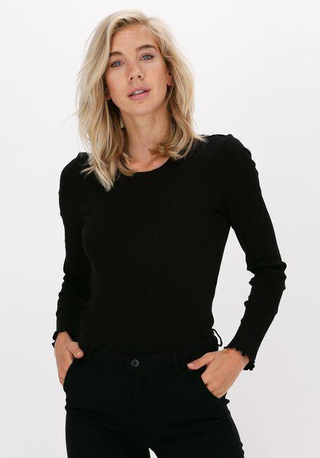 Zwarte SELECTED FEMME T-shirt ANNA LS CREW NECK TEE - large