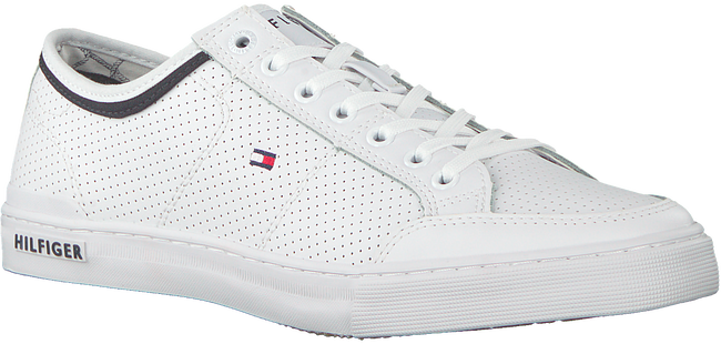 Witte TOMMY HILFIGER Sneakers CORE CORPORATE LEATHER SNEAKER  - large