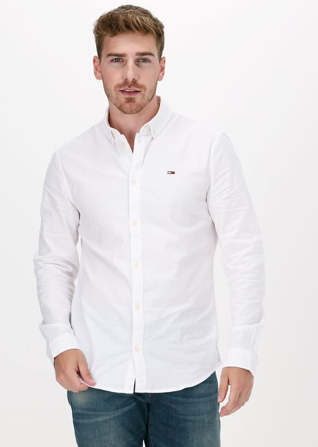 Witte TOMMY JEANS Casual overhemd TJM SLIM STRETCH OXFORD SHIRT  - large