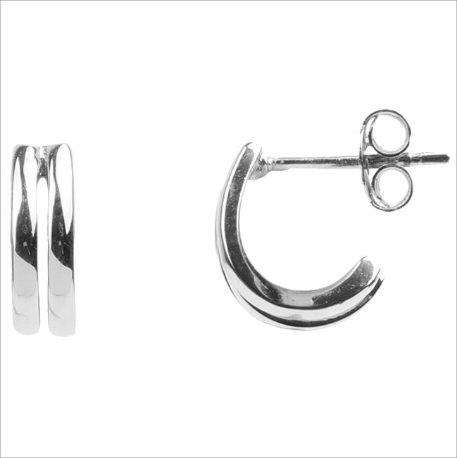 Zilveren ATLITW STUDIO Oorbellen BLISS EARRINGS 2 SPLIT  - large