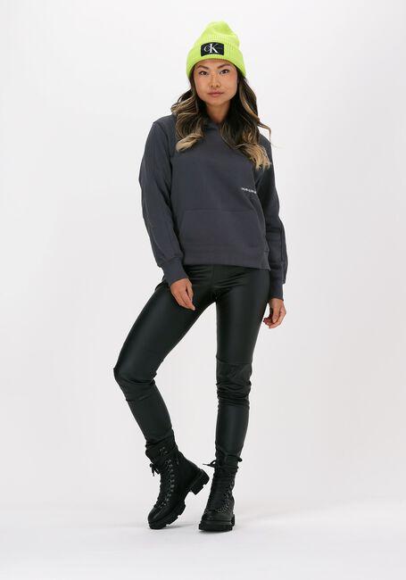 Grijze CALVIN KLEIN Sweater OFF PLACED MONOGRAM HOODIE - large