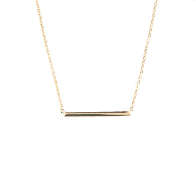 Gouden ALLTHELUCKINTHEWORLD Ketting SOUVENIR NECKLACE BAR - large