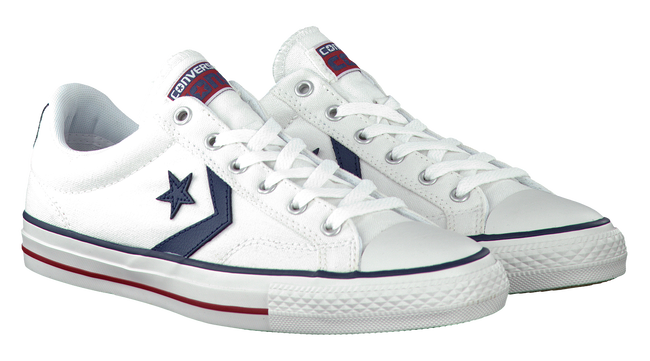 Witte CONVERSE Sneakers STAR PLAYER OX  - large