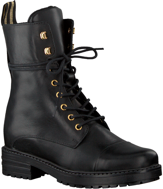 Zwarte PS POELMAN Veterboots 15472 - large