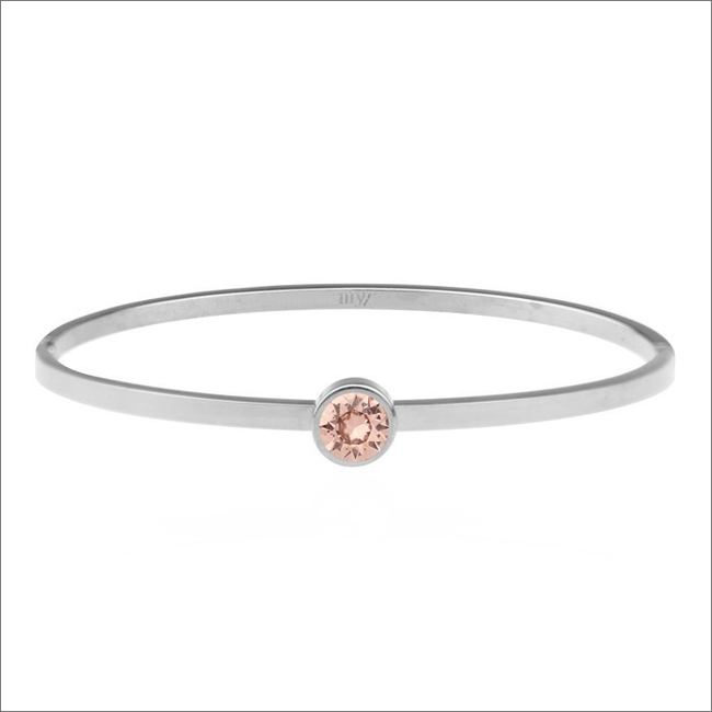 Zilveren MY JEWELLERY Armband LITTLE STONE BANGLE - large