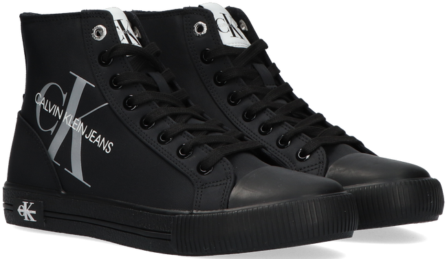 Zwarte CALVIN KLEIN Hoge sneaker VULCANIZED HIGH LACE UP - large