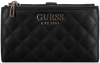 Zwarte GUESS Portemonnee MELISE SLG DBL ZIP ORGANIZER - small