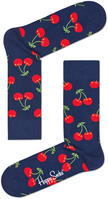 Blauwe HAPPY SOCKS Sokken CHERRY - large