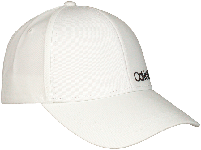 Witte CALVIN KLEIN Pet SIDE LOGO CAP - large