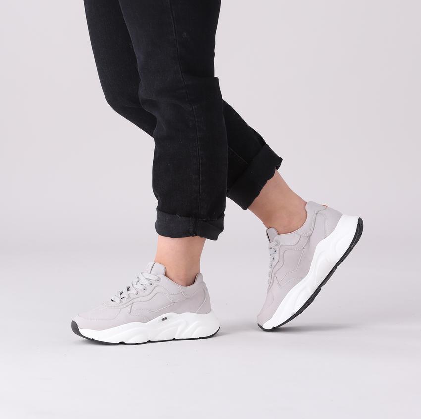 Grijze HUB Lage sneakers ROCK-W  - larger
