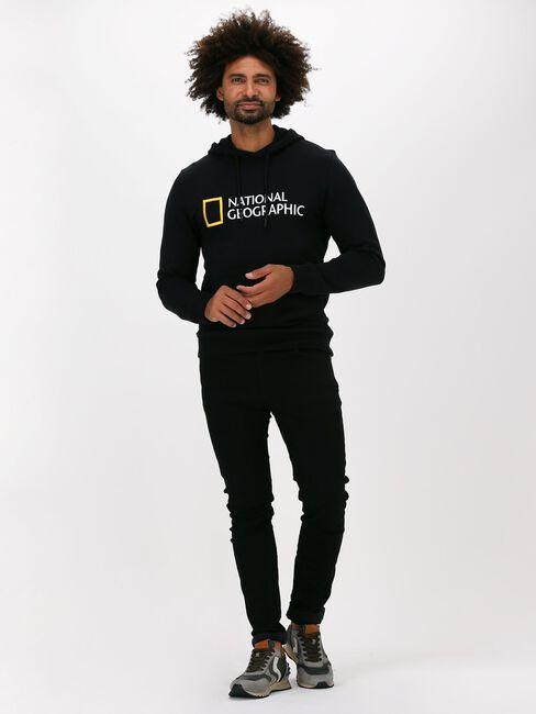 Zwarte NATIONAL GEOGRAPHIC Sweater UNISEX HOODY WITH BIG LOGO  - large
