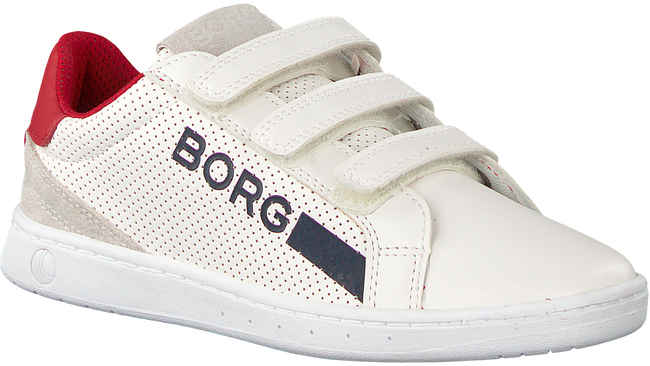 Witte BJORN BORG Sneakers T330 LOW NAP VELCRO - large