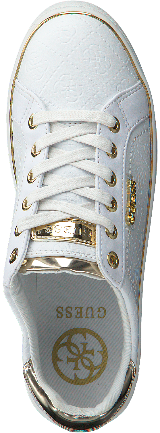 Witte GUESS Sneakers BECKIE Omoda.nl