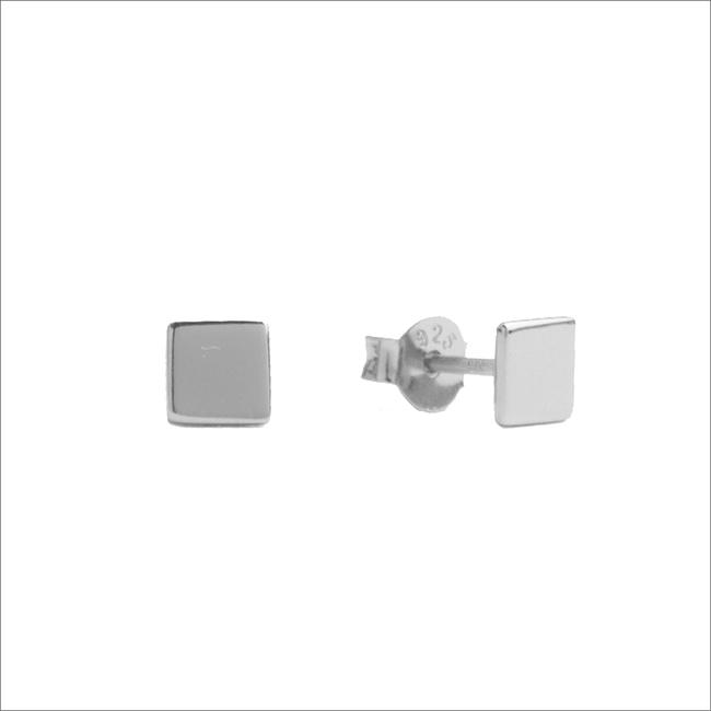 Zilveren ATLITW STUDIO Oorbellen PARADE EARRINGS SQUARE - large