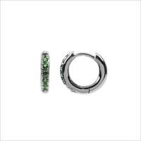 Zilveren ATLITW STUDIO Oorbellen BLISS EARRINGS CREOLE GREEN EM  - medium
