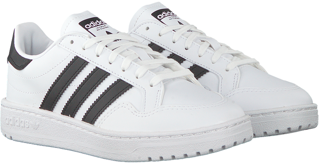 Witte ADIDAS Lage sneakers TEAM COURT J  - large
