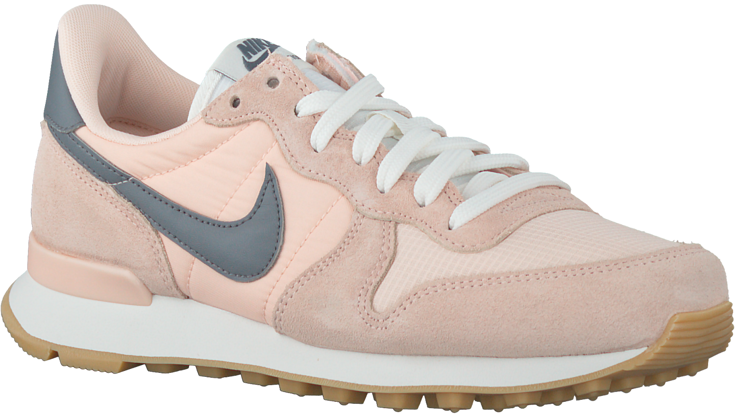 nike internationalist dames grijs roze