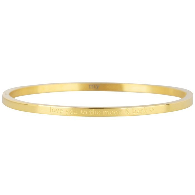 Gouden MY JEWELLERY Armband LOVE YOU TO THE MOON AND - large