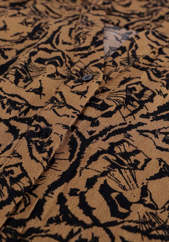 Bruine ALIX THE LABEL Mini jurk TIGERHEAD DRESS - larger