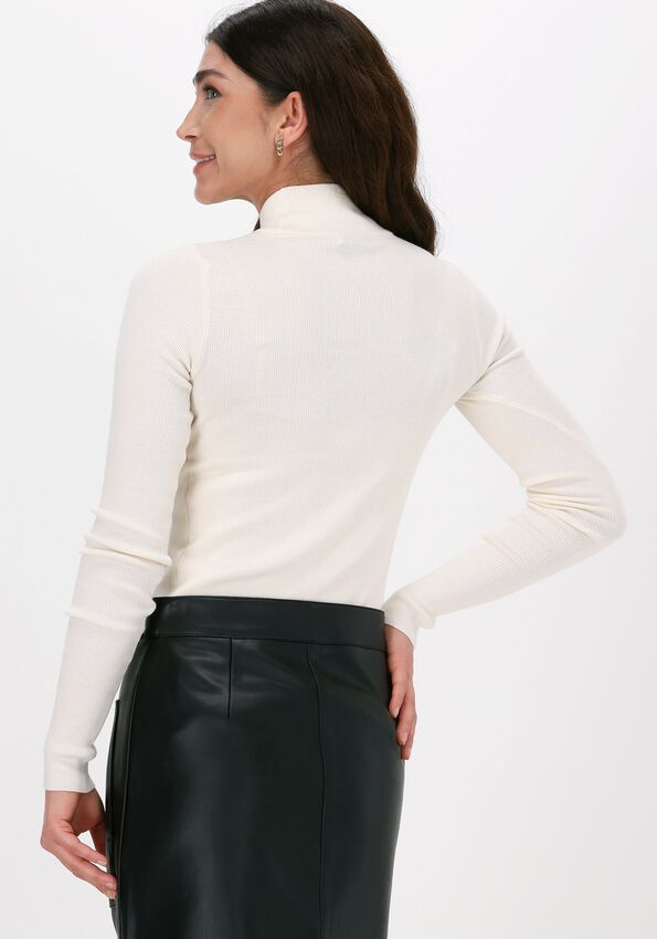 Gebroken wit NA-KD Coltrui RIBBED POLO KNITTED SWEATER  - larger