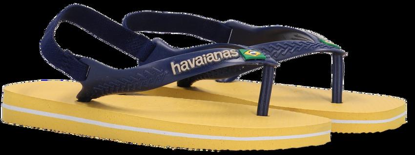 Gele HAVAIANAS Teenslippers BABY BRASIL LOGO II  - larger