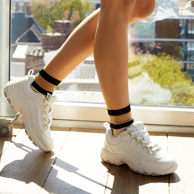 Witte FILA Sneakers STRADA M LOW WMN  - large