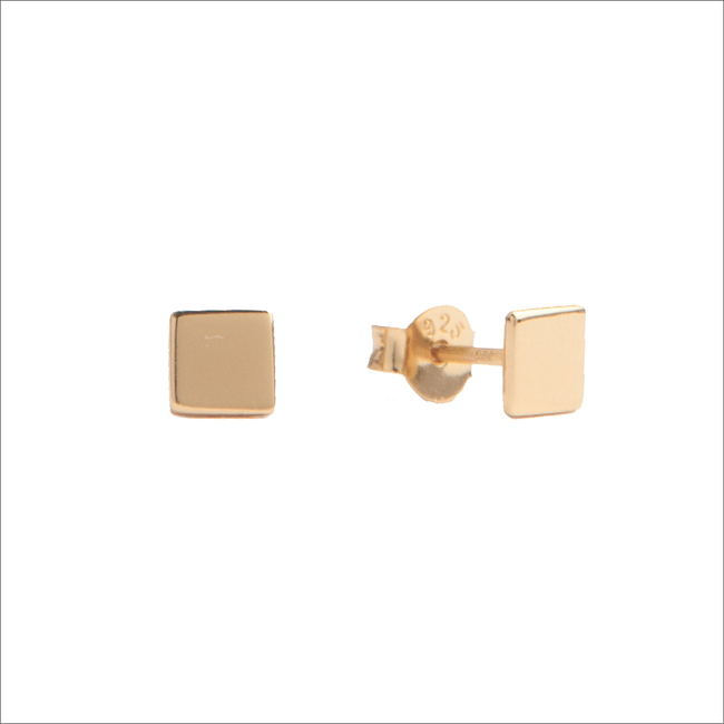 Gouden ATLITW STUDIO Oorbellen PARADE EARRINGS SQUARE - large