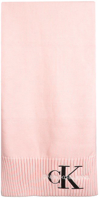 Roze CALVIN KLEIN Sjaal J BASIC WOMEN KNITTED SCARF  - large