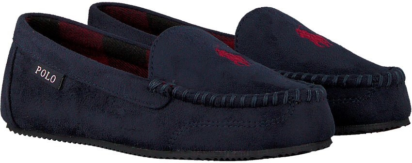 Blauwe POLO RALPH LAUREN Pantoffels W DEZI  - larger