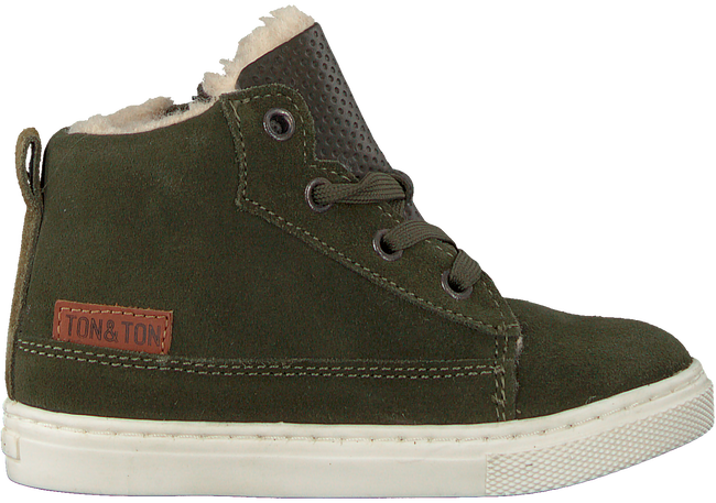 Groene TON & TON Hoge sneaker PL20W017  - large
