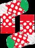 Rode HAPPY SOCKS Sokken BIG DOT SNOWMAN  - small