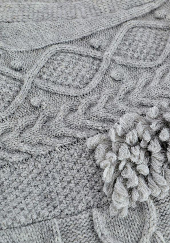Grijze SUMMUM Vest BALLOON SLEEVE CARDIGAN FANCY  - larger