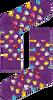 Paarse HAPPY SOCKS Sokken RUBBER DUCK SOCK  - small