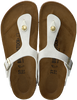 Witte BIRKENSTOCK PAPILLIO Slippers GIZEH ANIMAL FASCINATION  - small