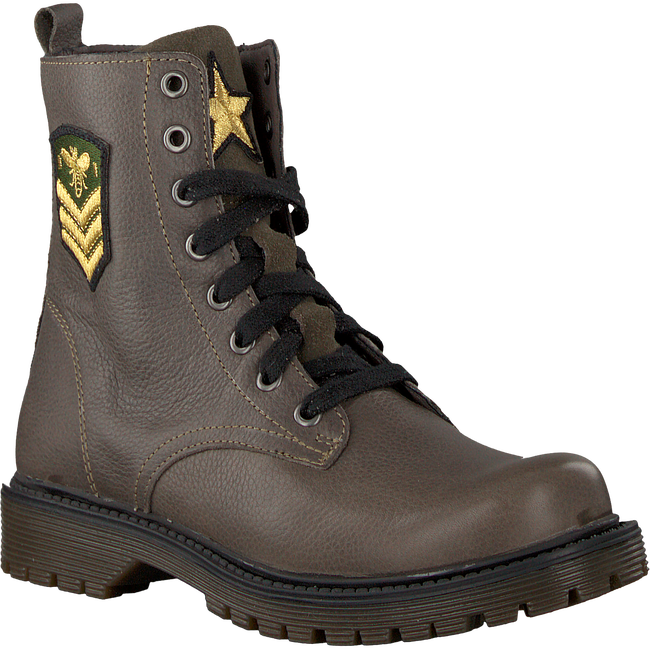 Groene BRAQEEZ Veterboots BELLE BOOT - large