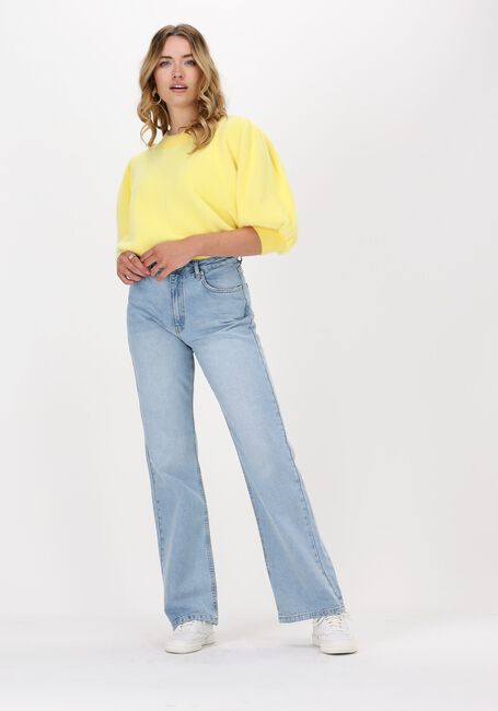 Lichtblauwe NA-KD Straight leg jeans RELAXED FULL LENGTH JEANS  - large