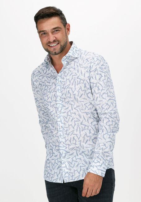 Witte VANGUARD Casual overhemd LONG SLEEVE SHIRT PRINT ON FIN - large