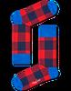 Rode HAPPY SOCKS Sokken LUMBERJACK - small
