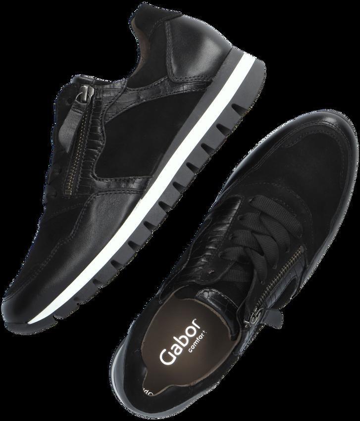 Zwarte GABOR Lage sneakers 438  - larger