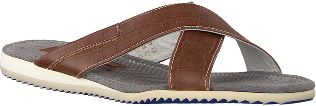 Cognac FLORIS VAN BOMMEL Slippers 20023 - large