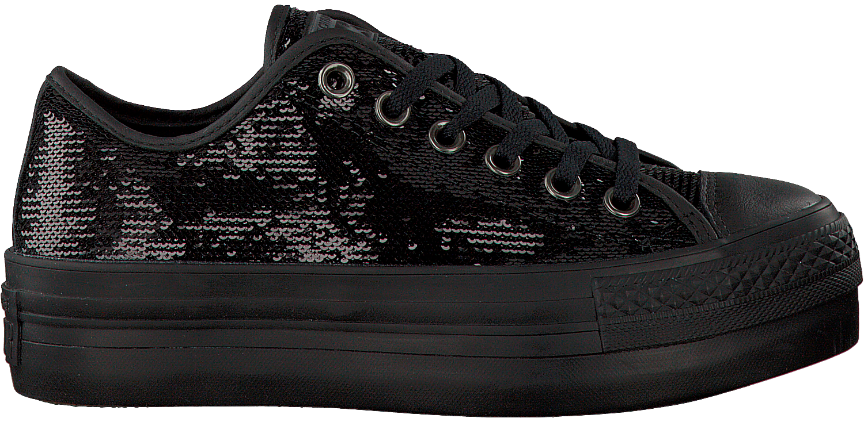 zwarte converse platform