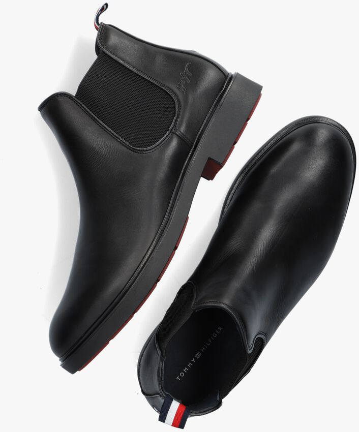 Zwarte TOMMY HILFIGER Chelsea boots ELEVATED ROUNDED  - larger