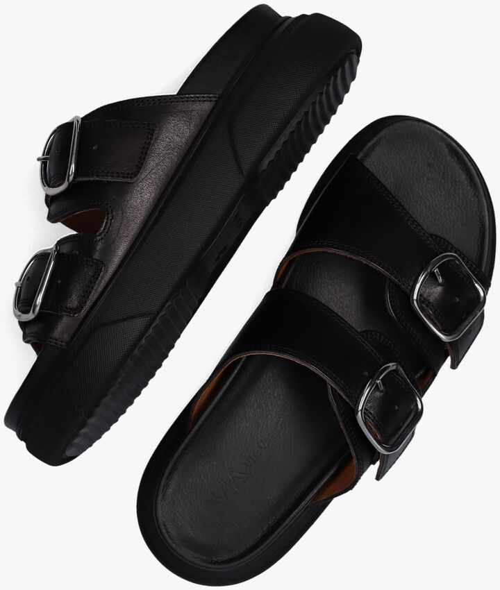 Zwarte VIA VAI Slippers MADDISON DEE  - larger
