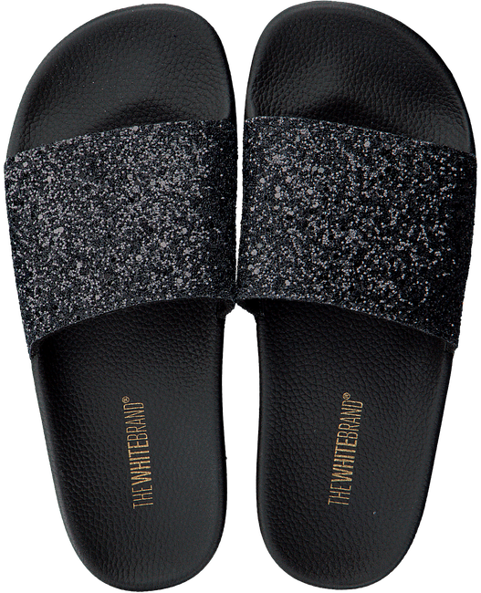 Zwarte THE WHITE BRAND Slippers GLITTER BEACH - large