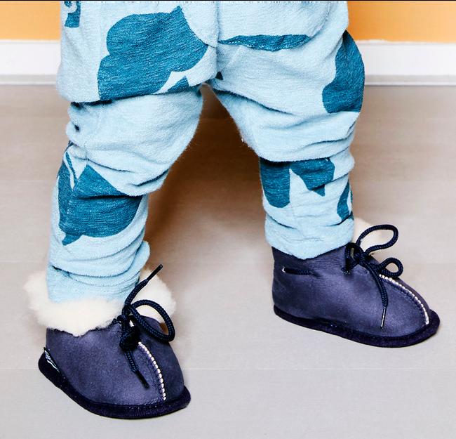 Blauwe BERGSTEIN Babyschoenen PANDA  - large