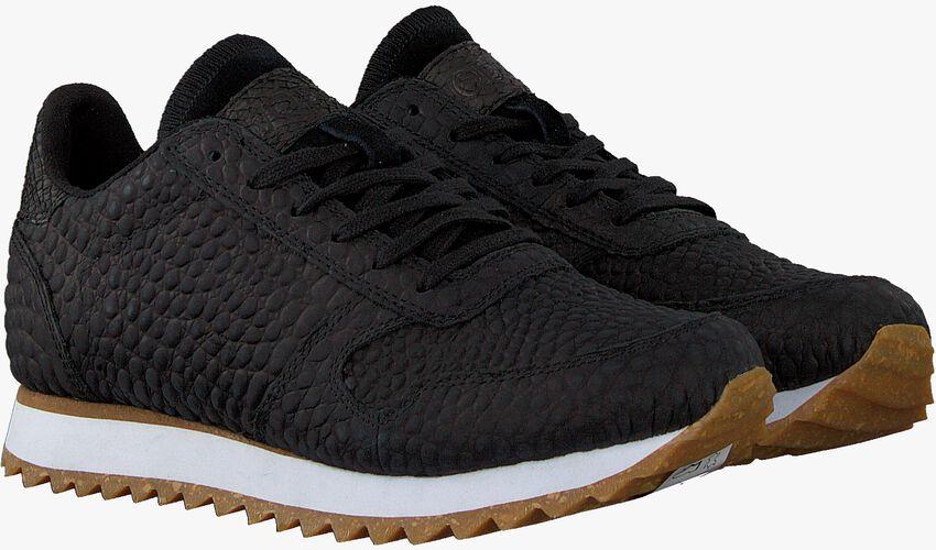 Zwarte WODEN Lage sneakers YDUN CROCO II - larger