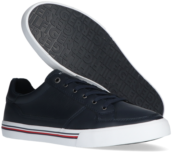 Blauwe TOMMY HILFIGER Lage sneakers CORE CORPORATE LEATHER SNEAKER - large