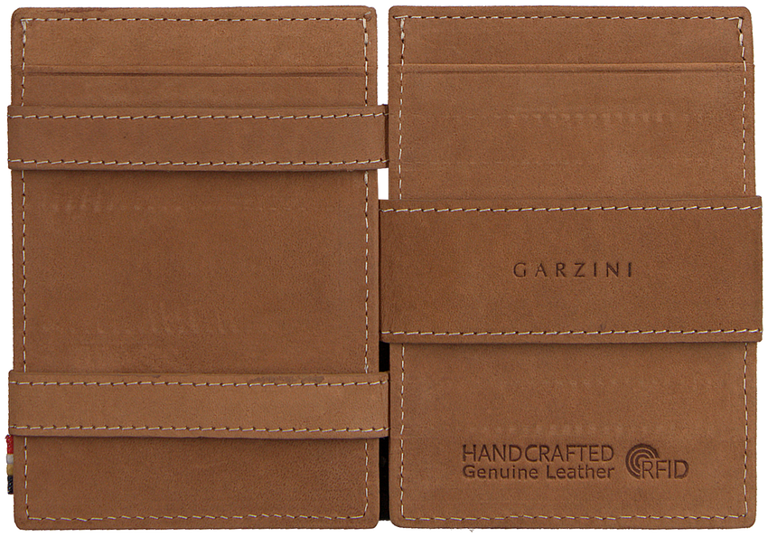 Cognac GARZINI Portemonnee CAVARE - larger