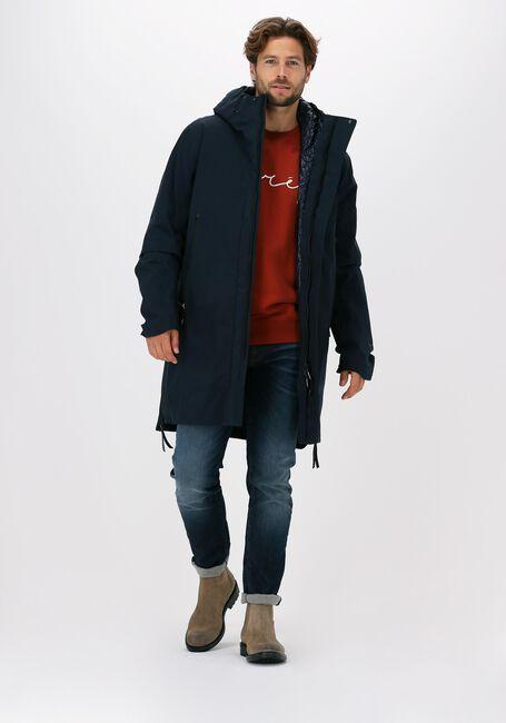 Blauwe KRAKATAU Gewatteerde jas QM241  - large